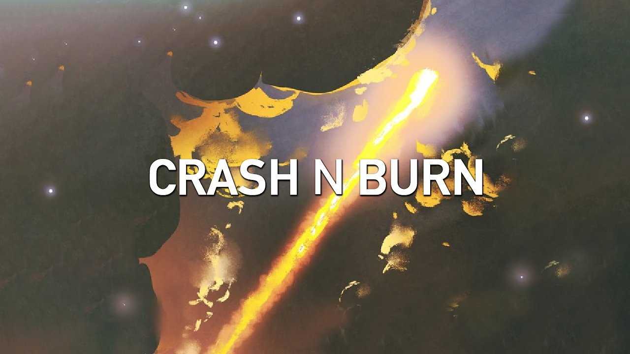 Music track poster Crash N Burn by The Lifted - eat. Man 3 Faces