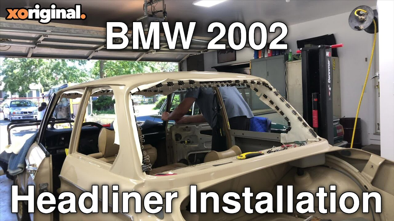 Video poster BMW 2002 headliner installation