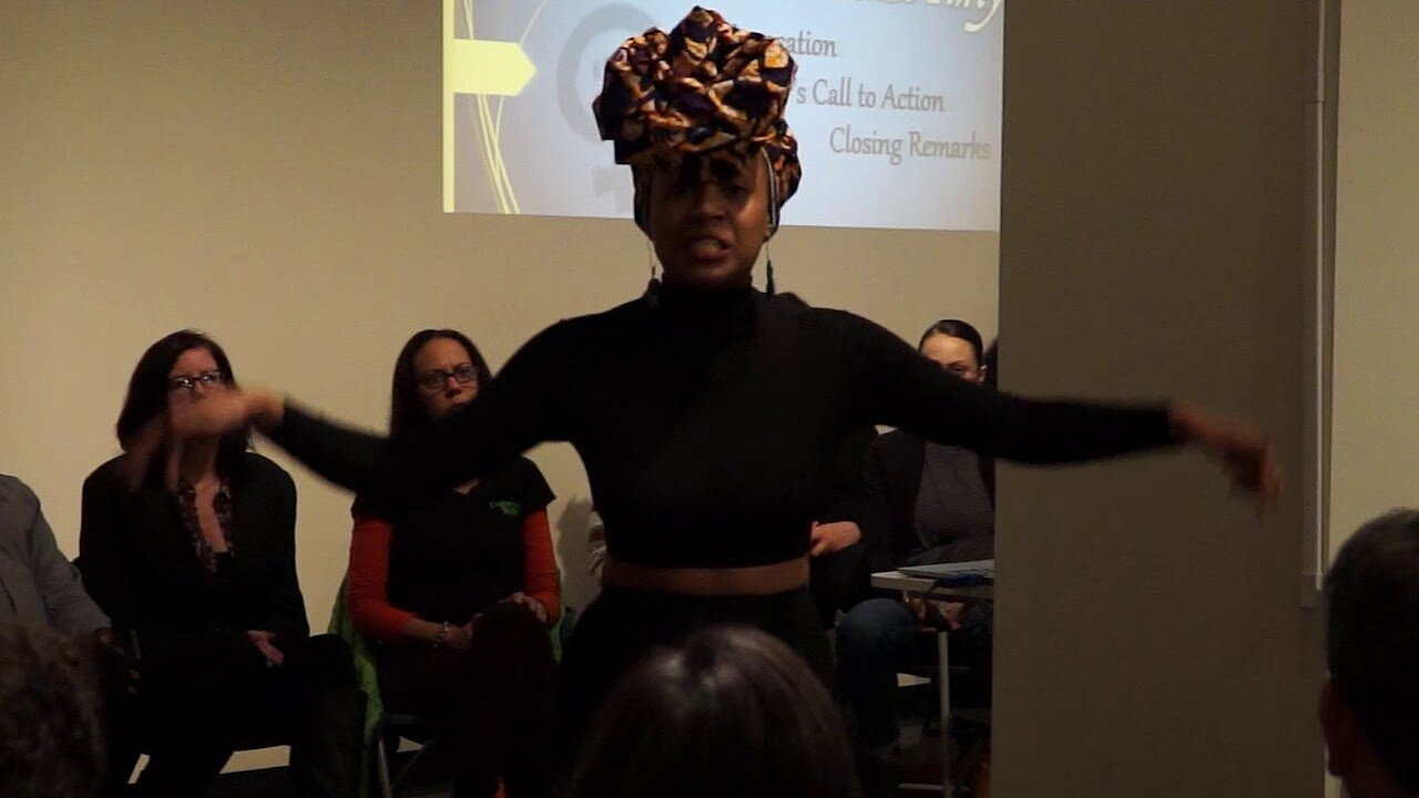 "Video poster Black Feminist Shayla Monteiro Performs Poem ""That Girl"" by Alysia Harris"