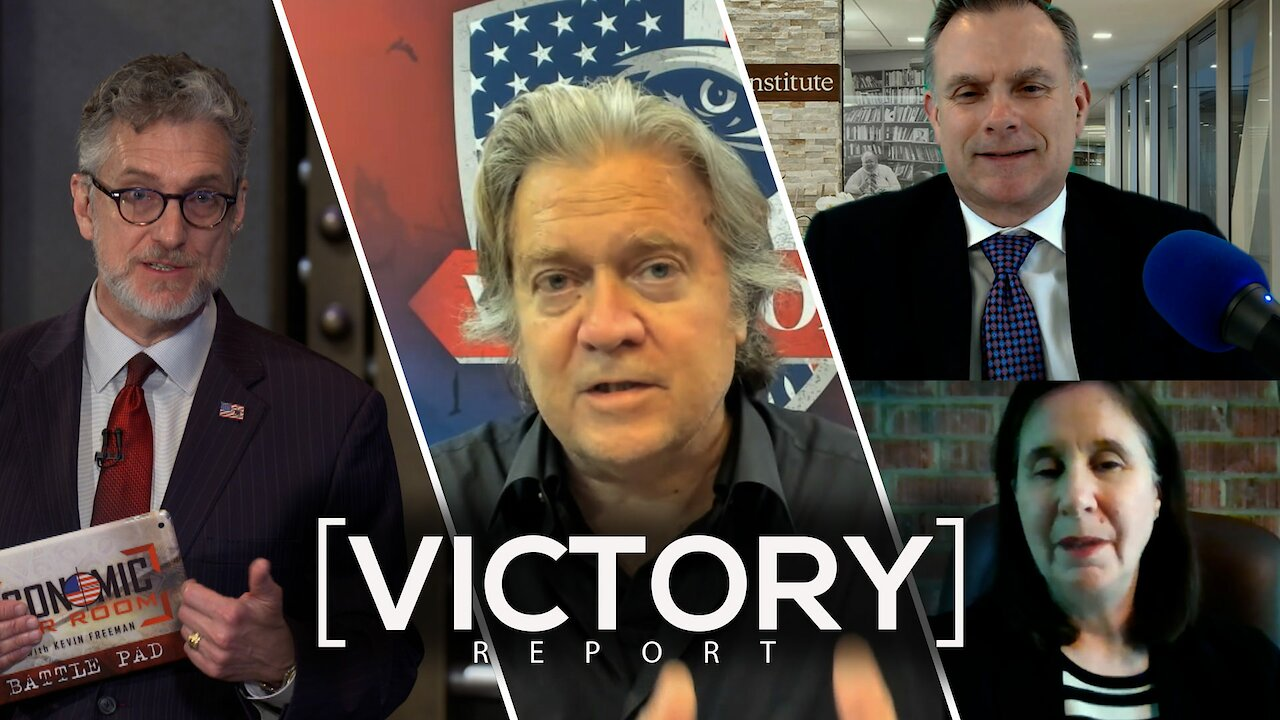 Video poster Recent Victories in the Global Economic War! | Guests: Steve Bannon, Gen. Spalding & Rosemary Gibson | Ep 92