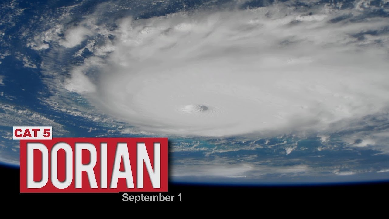 Video poster Views of Hurricane Dorian from the International Space Station - September 1, 2019