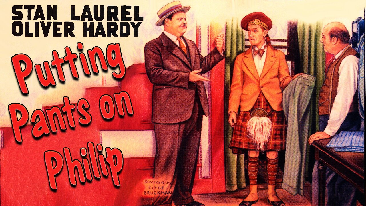 "Video poster Laurel & Hardy: Putting Pants on Philip (1927) First ""official"" Laurel & Hardy film"