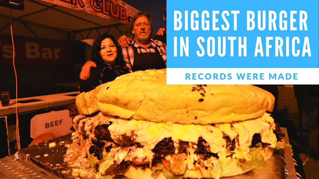 Video poster I Present The Biggest Burger In South Africa