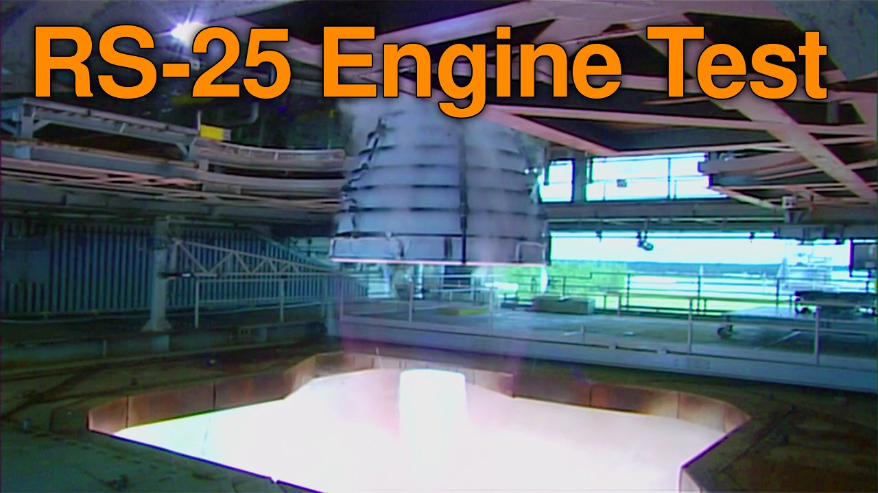 Video poster Space Launch System RS25 Engine Test