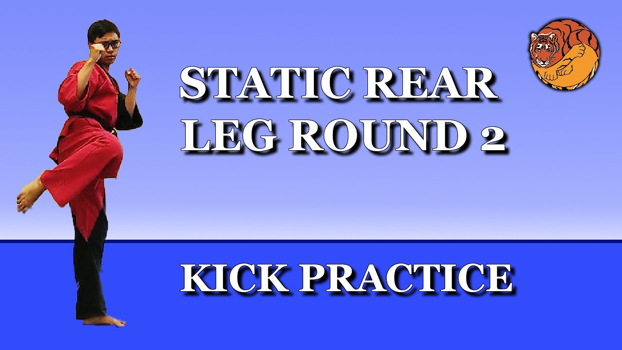 Video poster Kick Practice: static rear leg round