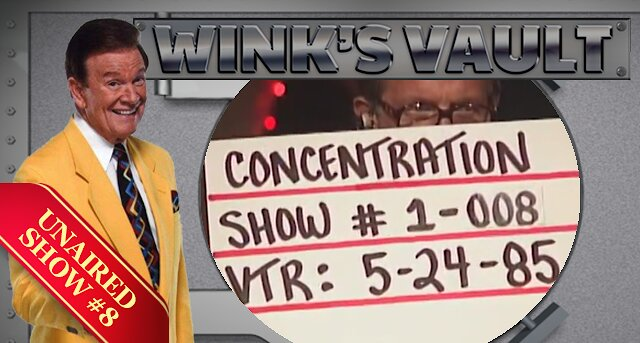 Video poster Concentration RARE UNAIRED SHOW #8