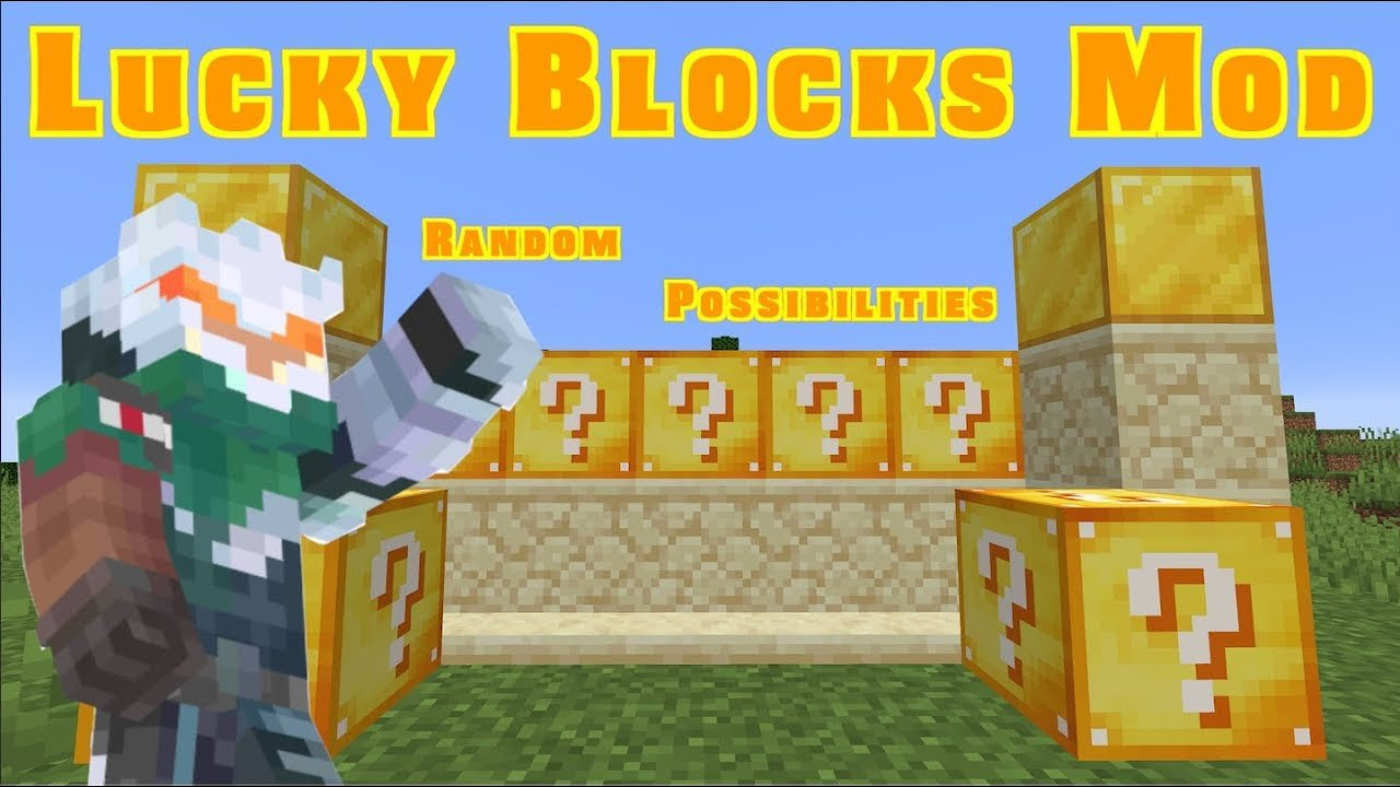 Video poster Lucky Blocks Mod 1.14.3 | Minecraft