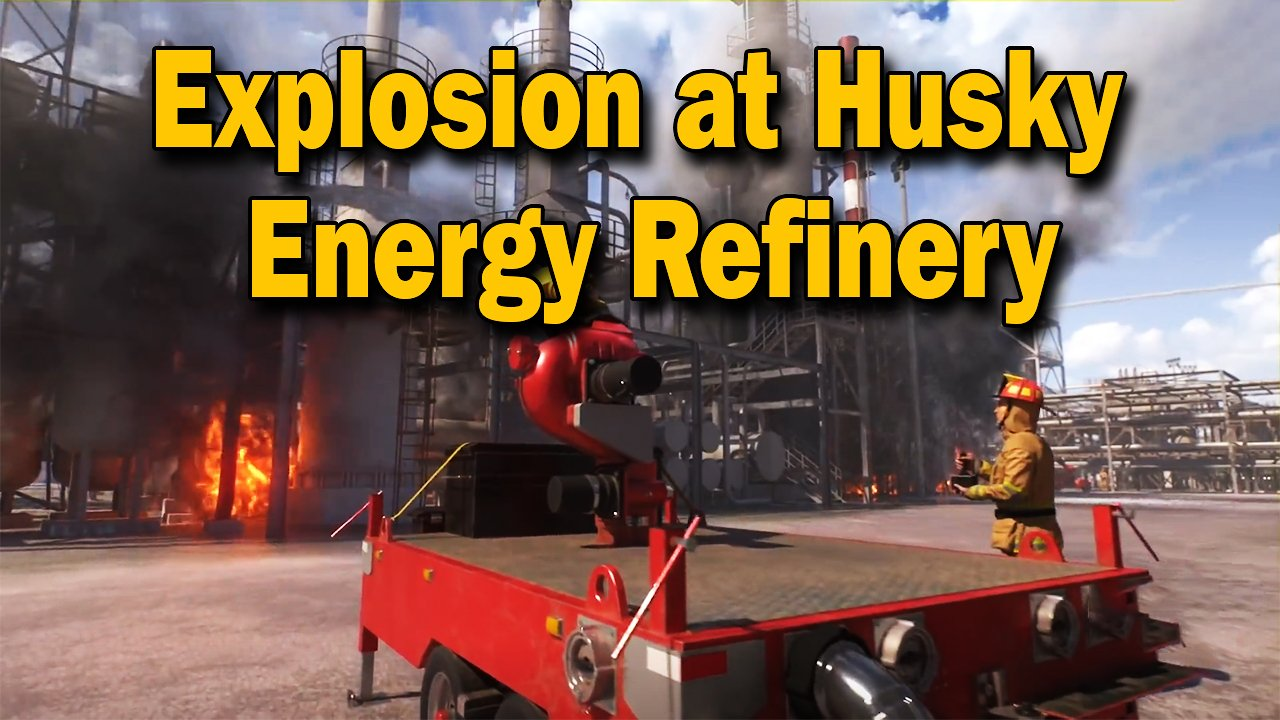 Video poster Animation of April 26, 2018, Explosion and Fire at the Husky Energy Refinery in Superior, Wisconsin