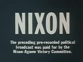 Video poster Nixon 1968 Election Ad American Youth