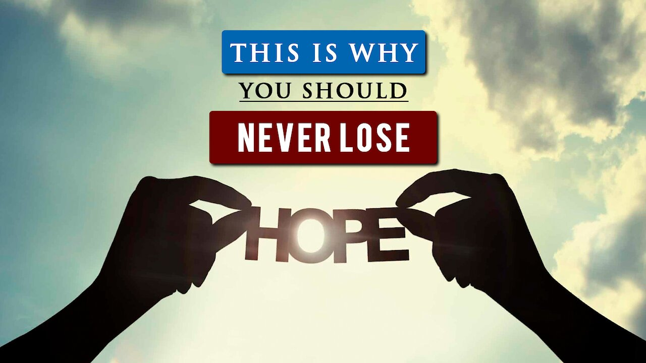 Video poster How to have HOPE IN LIFE when you FEEL HOPELESS | Daniel Maritz