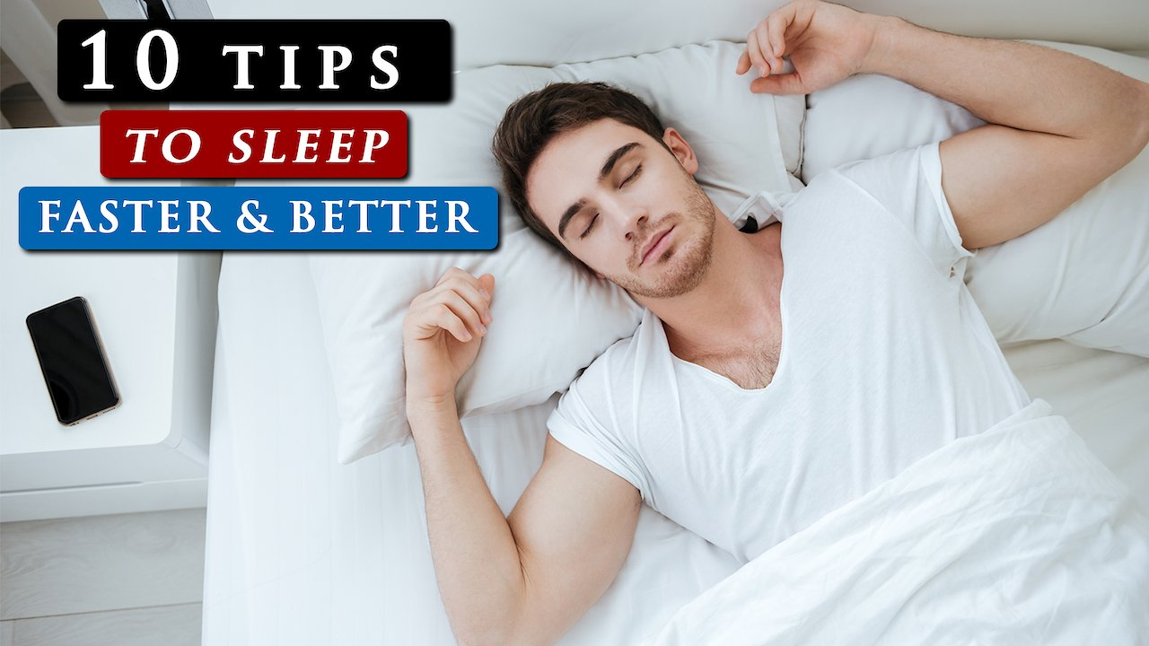 Video poster How to SLEEP FASTER and BETTER at night