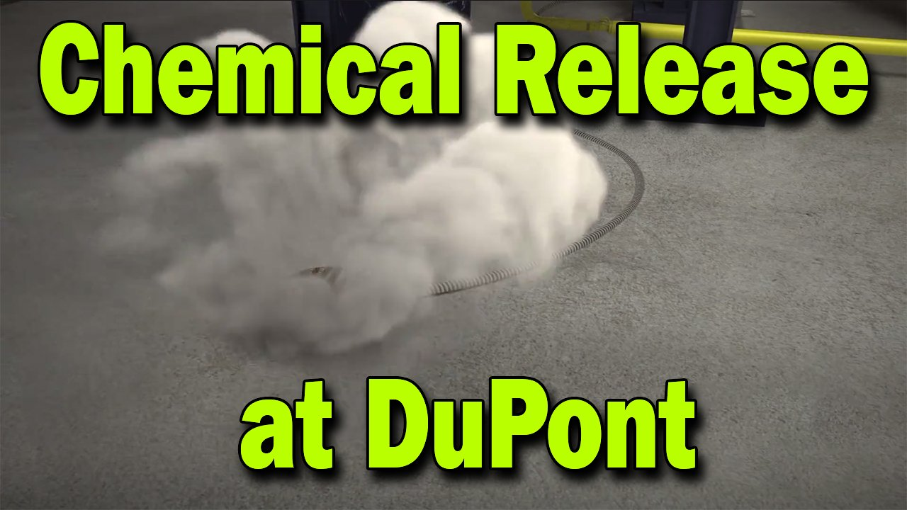 Video poster Chemical Release at DuPont's La Porte Facility