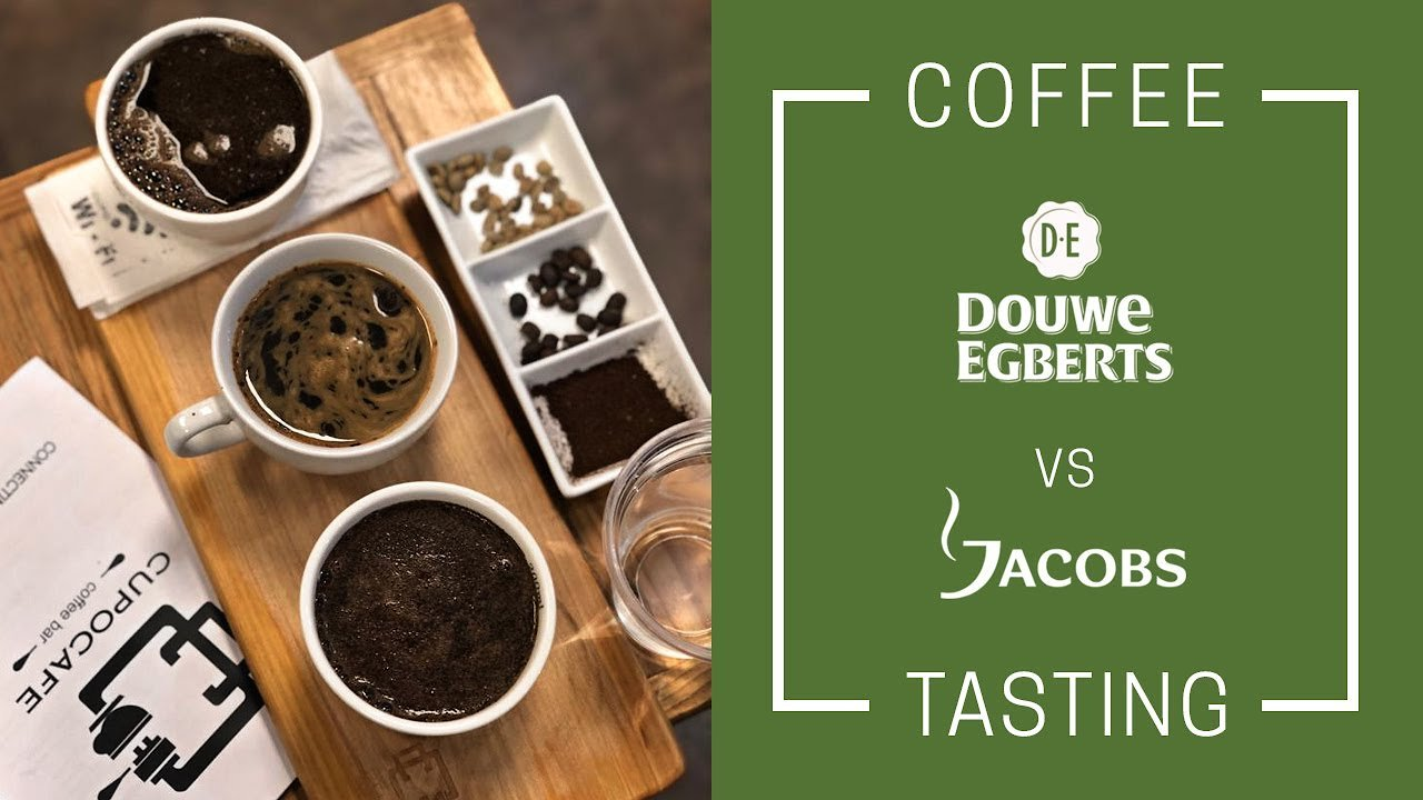 Video poster Tasting Coffee Douwe Egberts vs Jacobs Coffee