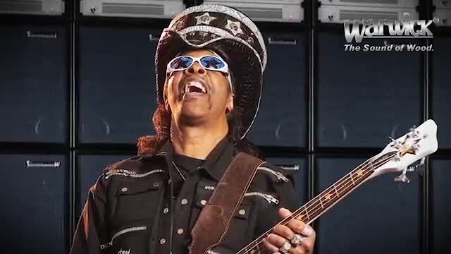 Video poster Warwick Custom Shop Basses Bootsy Collins' Space Bass