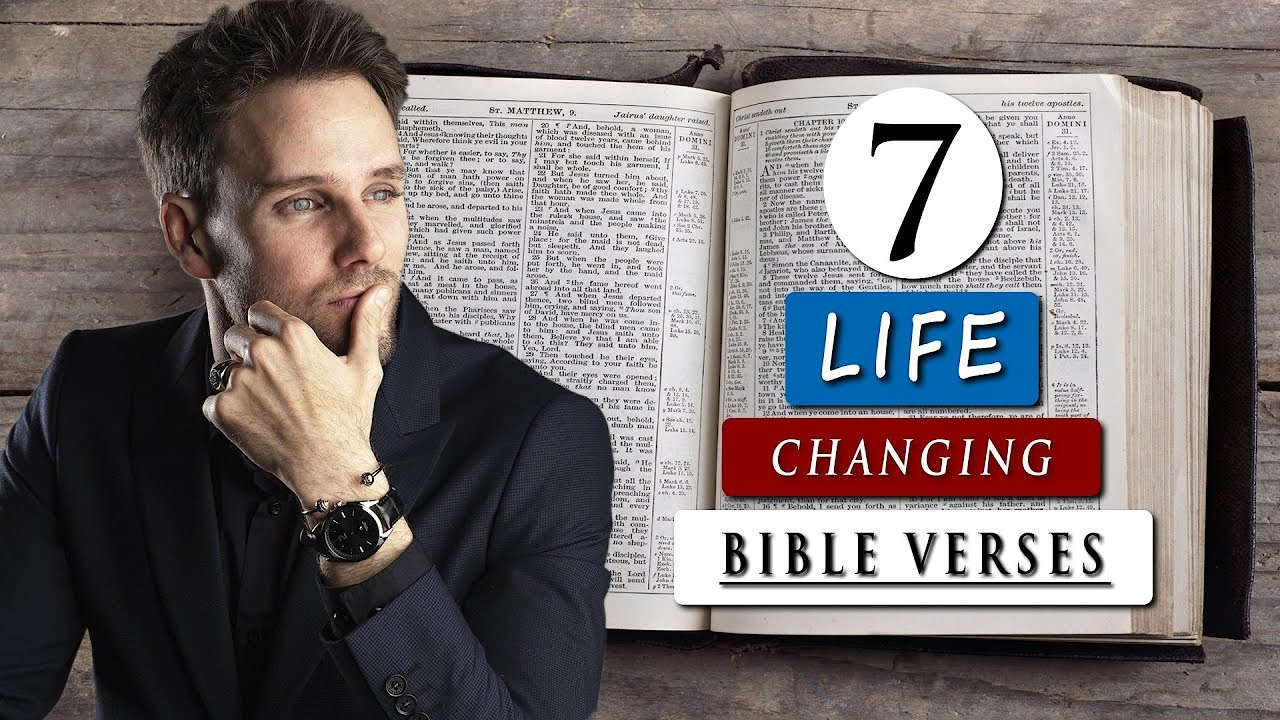 Video poster BIBLE VERSES that CHANGED my whole LIFE | 7 POWERFUL VERSES