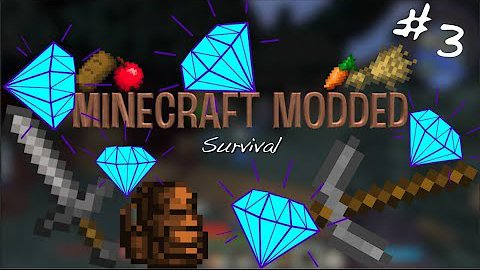 Video poster DIAMONDS!!! (and other crazy stuff)  Minecraft Modded Survival #3