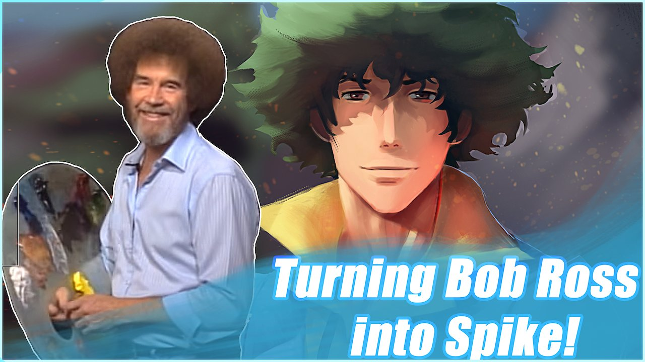 Video poster Turning Bob Ross into Spike from Cowboy Bebop!
