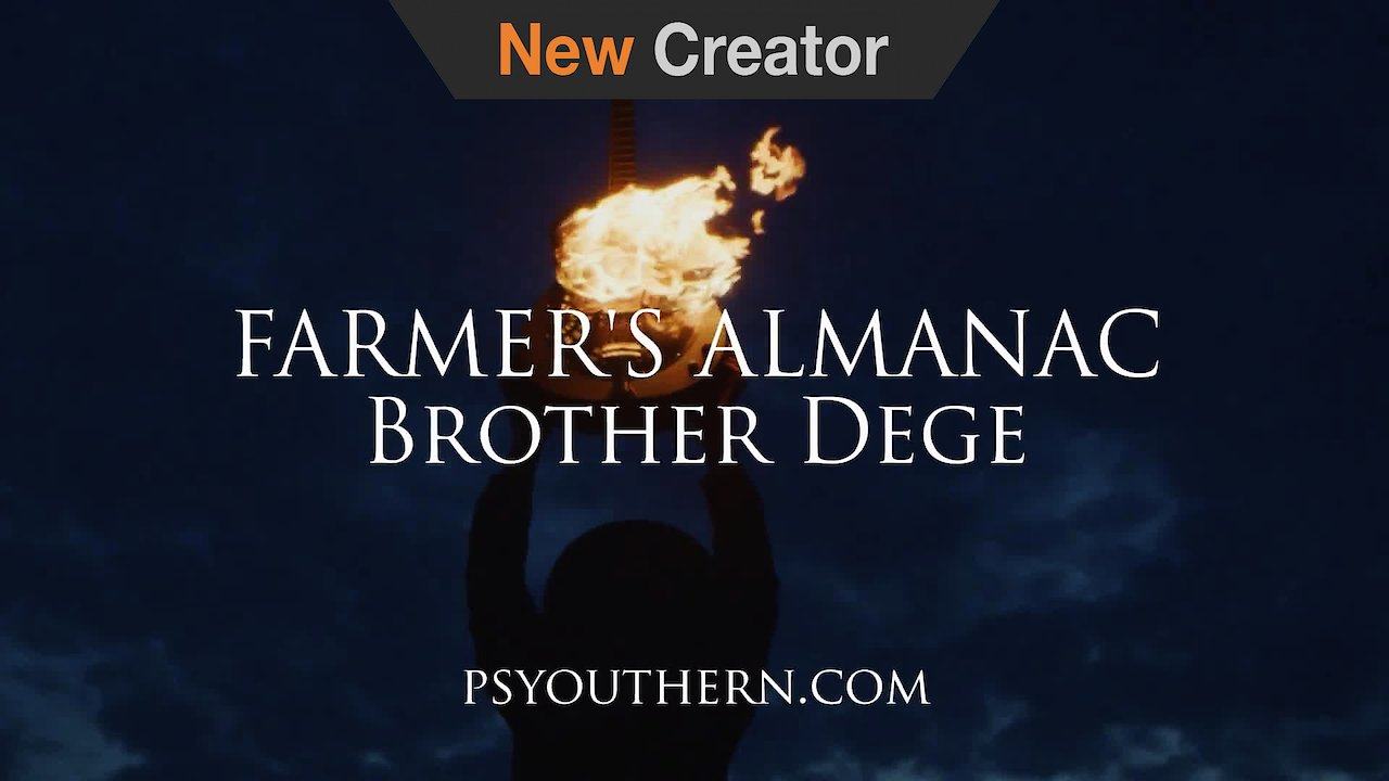 Video poster BROTHER DEGE | Farmer's Almanac Dobro on Fire Promo