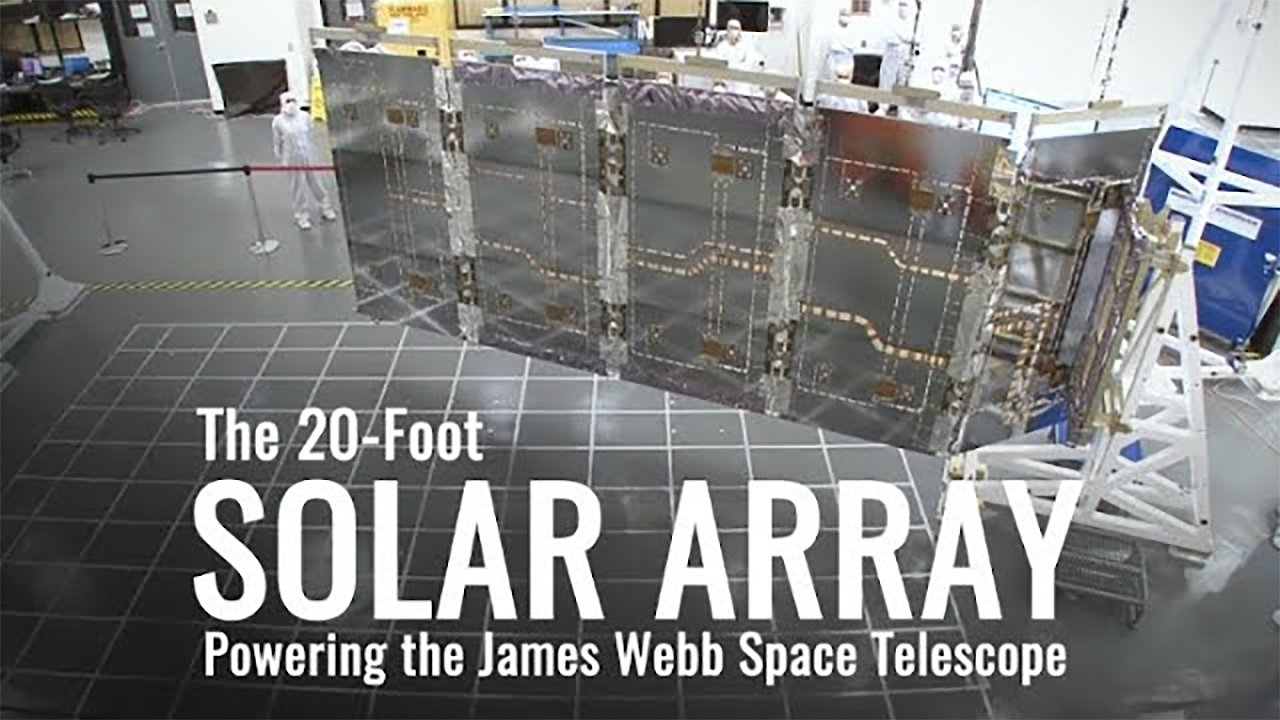 Video poster James Webb Space Telescope Solar Array Deployment Tests