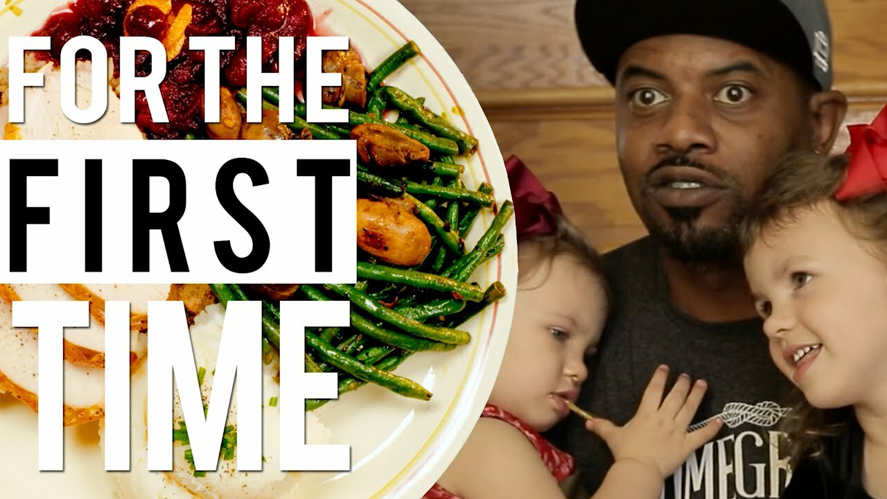 Video poster Celebrating Thanksgiving Dinner With A White Family 'For the First Time'