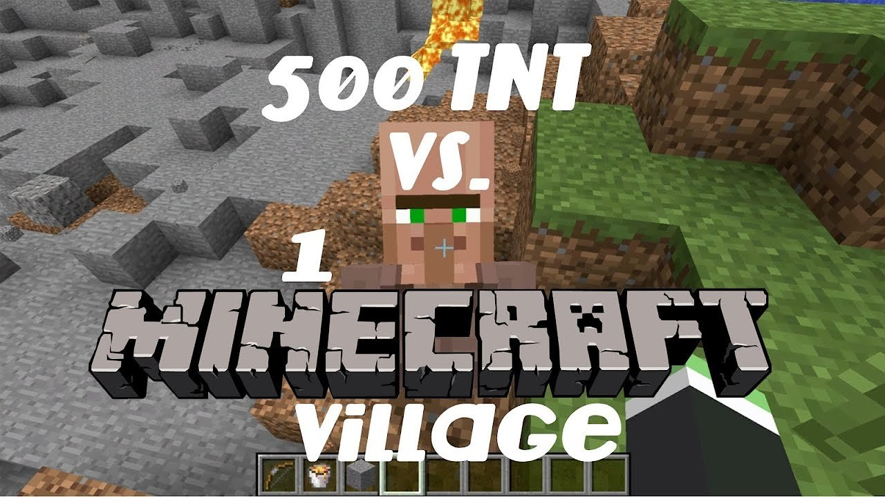Video poster 500 TNT vs. 1 Minecraft Village