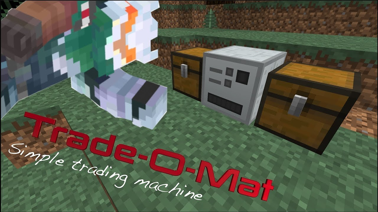 Video poster Trade-O-Mat Machine (Industrial Craft 2)  Minecraft 1.12.2