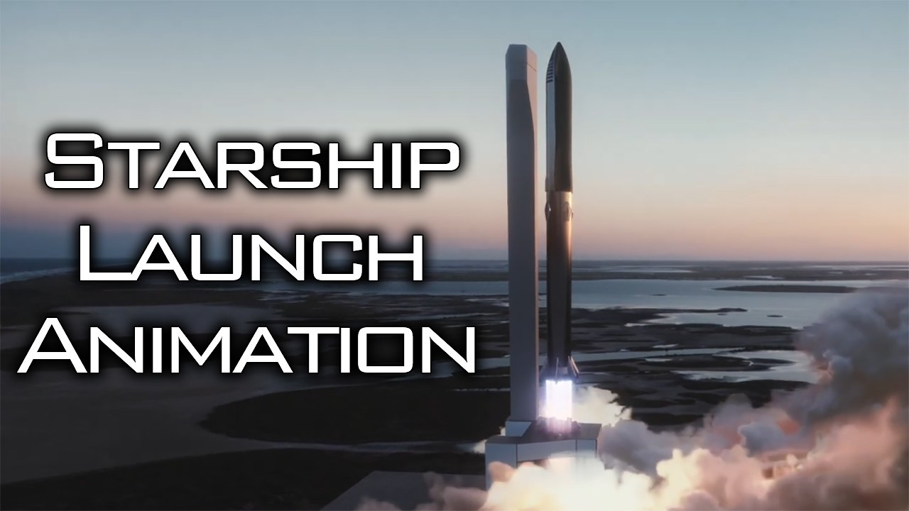 Video poster Starship Launch Animation