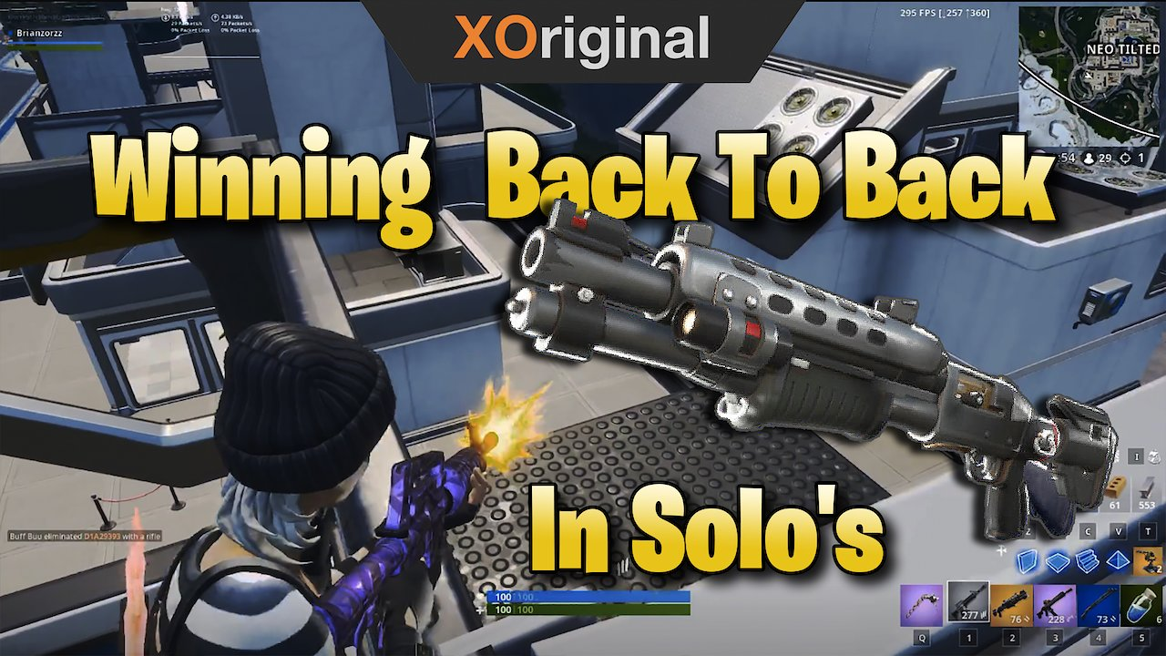 Video poster Winning Back To Back In Solo's With The *NEW* Tactical Shotgun! (Fortnite: Battle Royale)