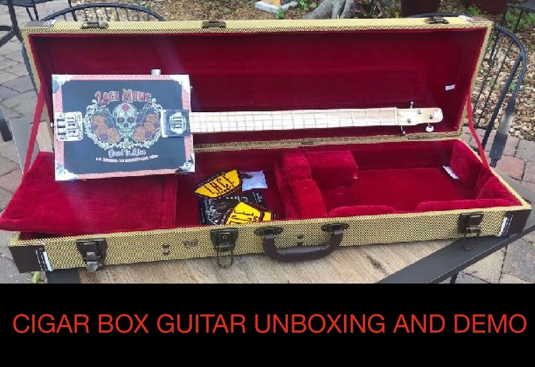 Video poster Unboxing Of A Cigar Box Guitar Made By LACE Music Products