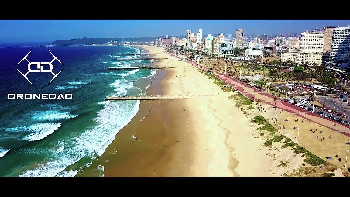 Video poster Fly over Durban's Beach front