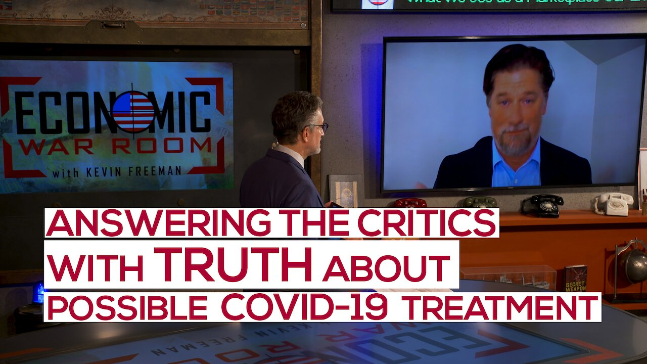 Video poster Why the Coordinated and Hysterical Media Response to a Potential COVID-19 Therapy? | Ep 106