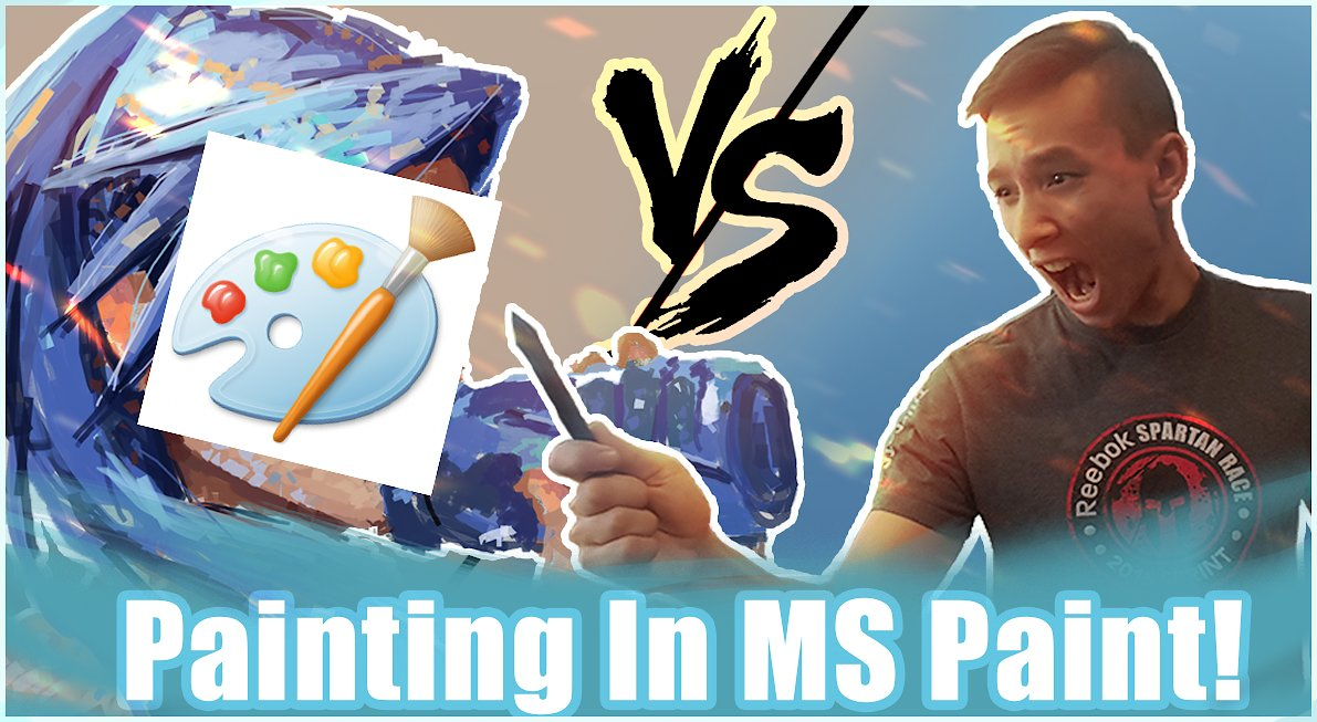 Video poster Connor Paints VS MS Paint!