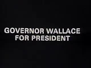 Video poster George Wallace 1968 Election
