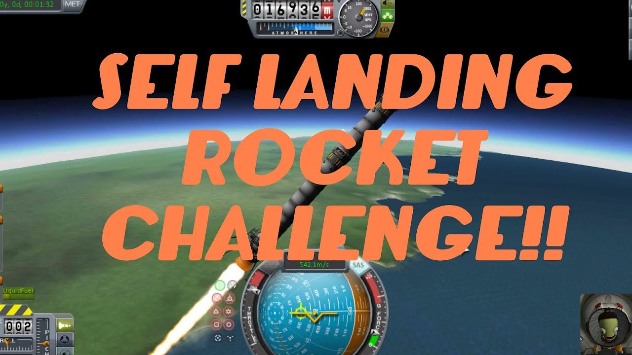 Video poster Kerbal SpaceX Auto Landing Rocket Challenge!