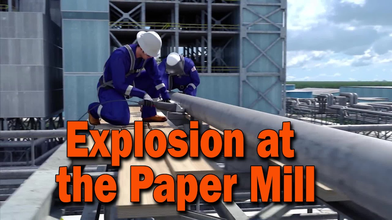 Video poster Explosion at PCA's DeRidder, Louisiana, Pulp and Paper Mill