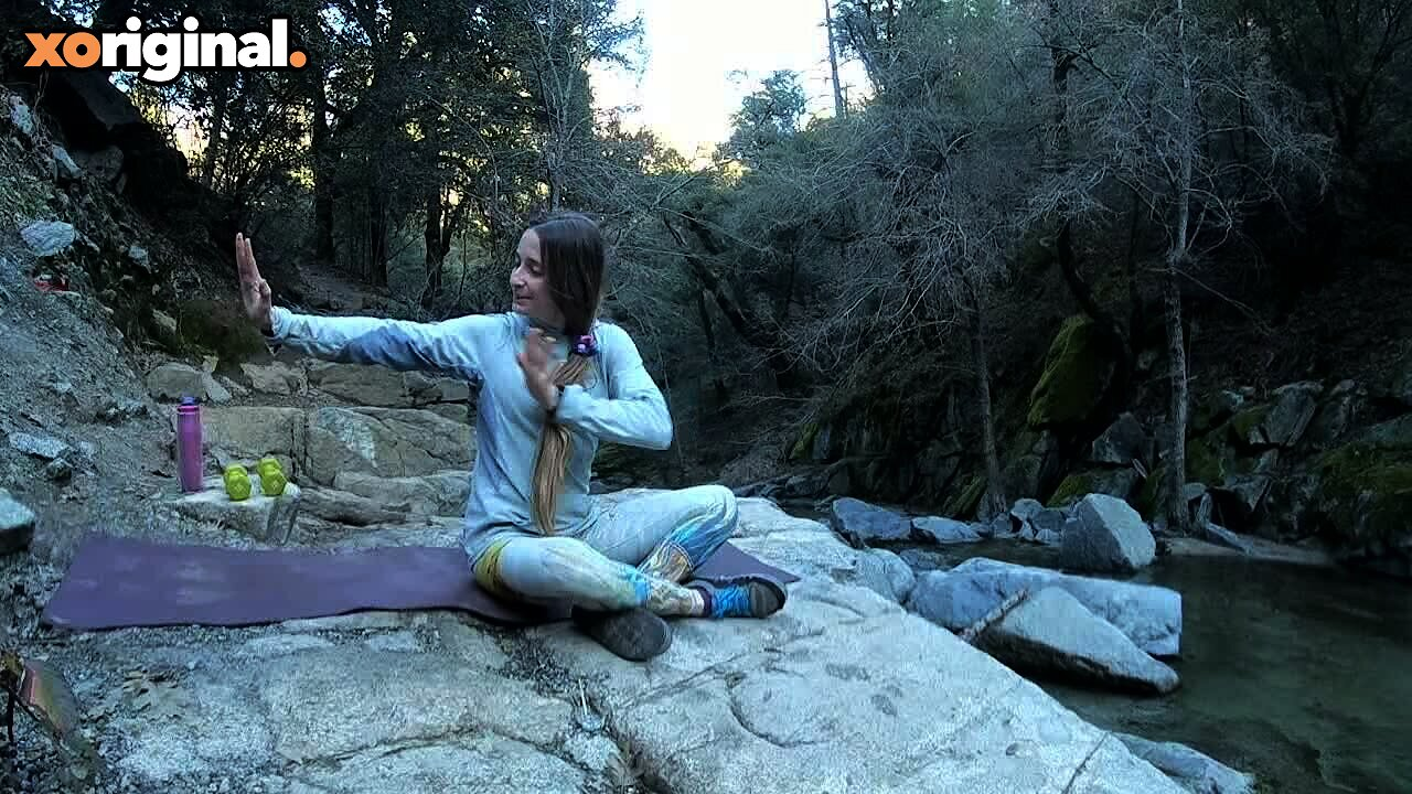 Video poster Waterfall Yoga--Total Core Burnout with Certified Personal Trainer Allie Hutto