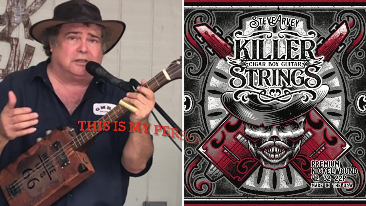 Video poster Getting Good Tone On The Cigar Box Guitar With Killer Strings