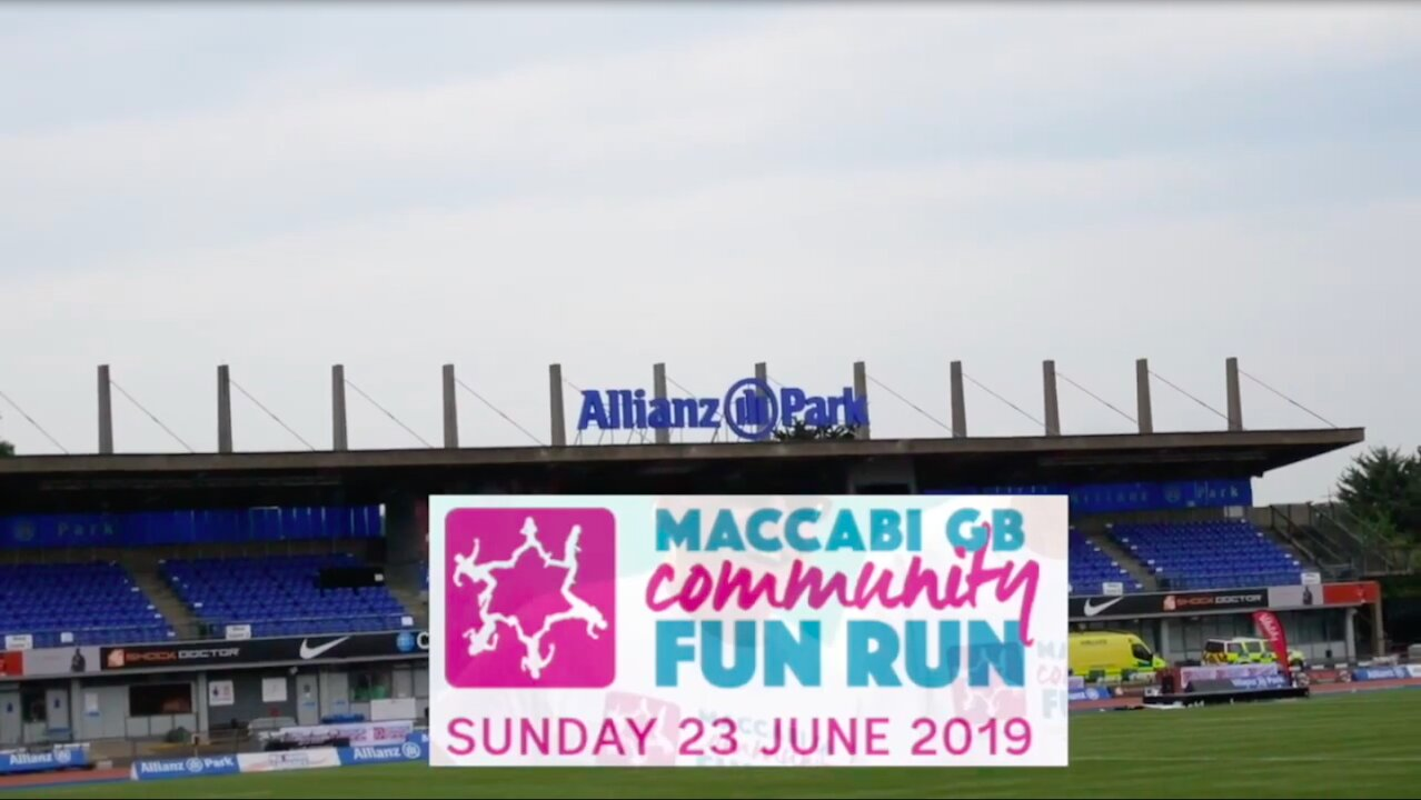 Video poster Norwood takes part in the Maccabi GB Community Fun Run