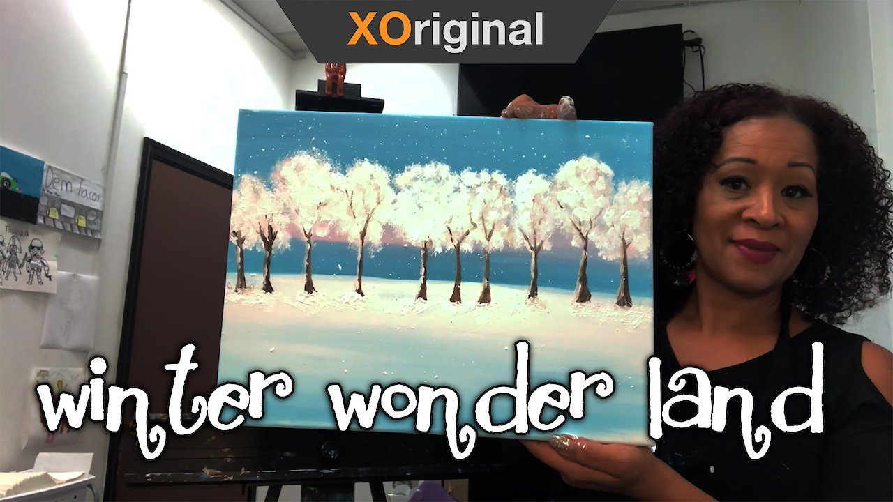 "Video poster Painting a ""Winter Wonder Land"""