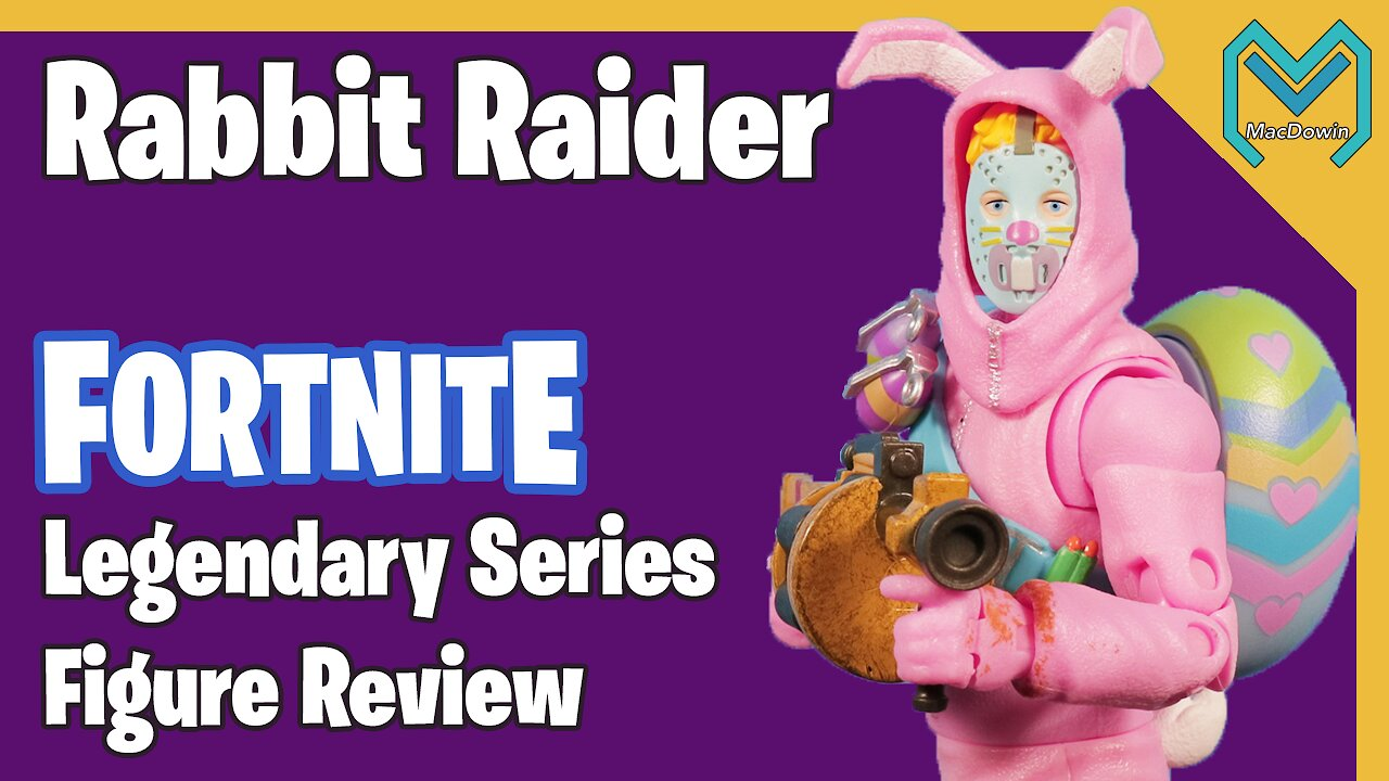 Video poster *RABBIT RAIDER LEGENDARY SERIES 2019* | 6 Inch Action Figure Review | Jazwares Fortnite