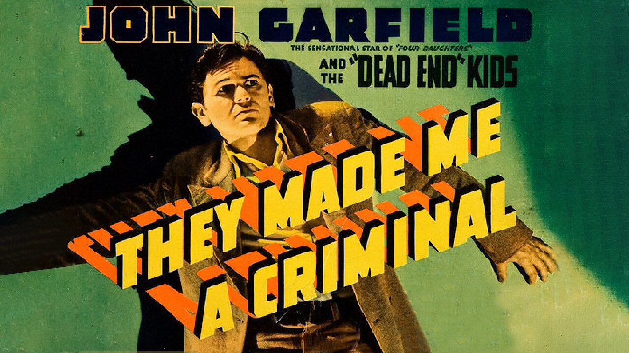 Video poster John Garfield, Claude Rains: They Made me a Criminal (1939)