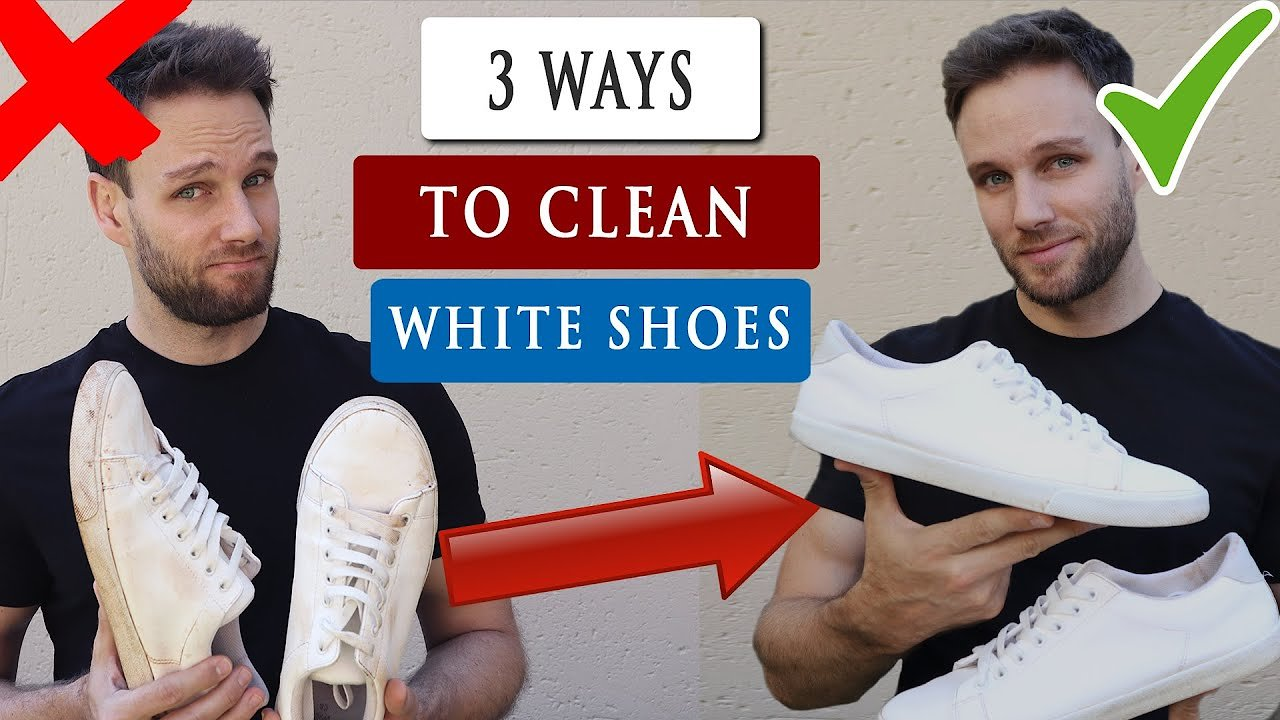 Video poster 3 Easy ways to CLEAN WHITE SHOES at home