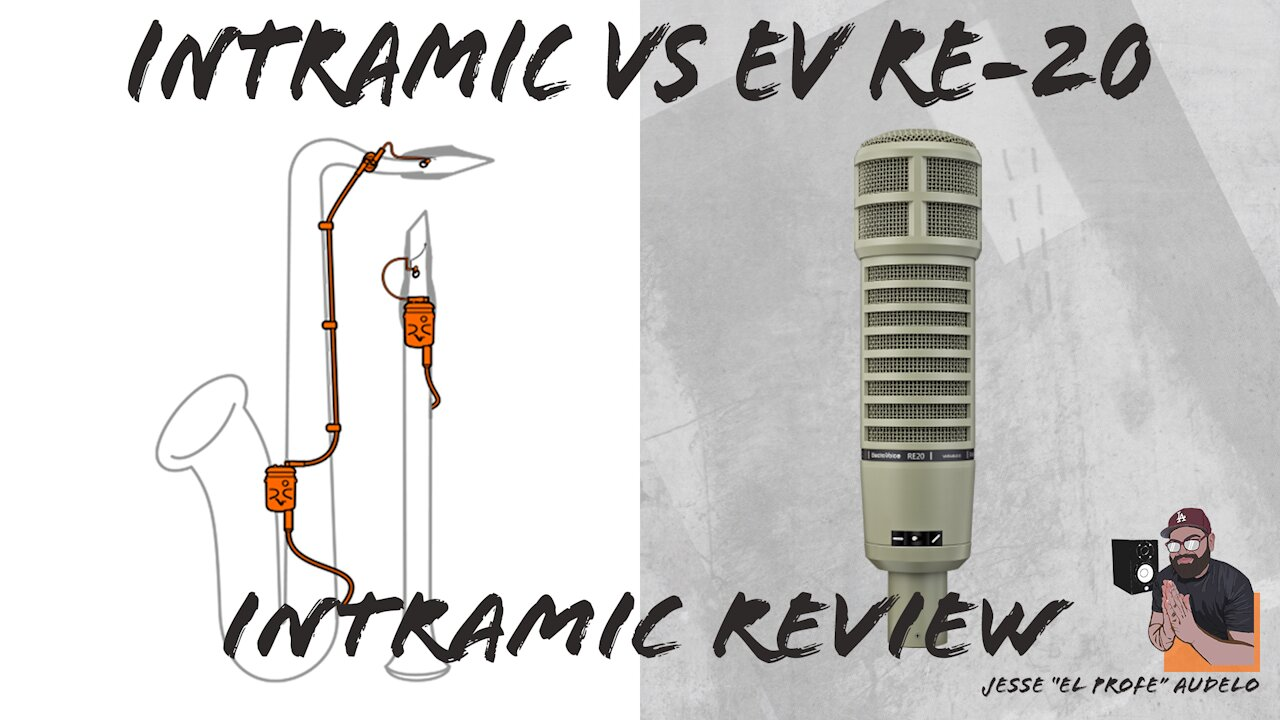 Video poster intraMic review on Bari Sax // intraMic vs EV RE-20