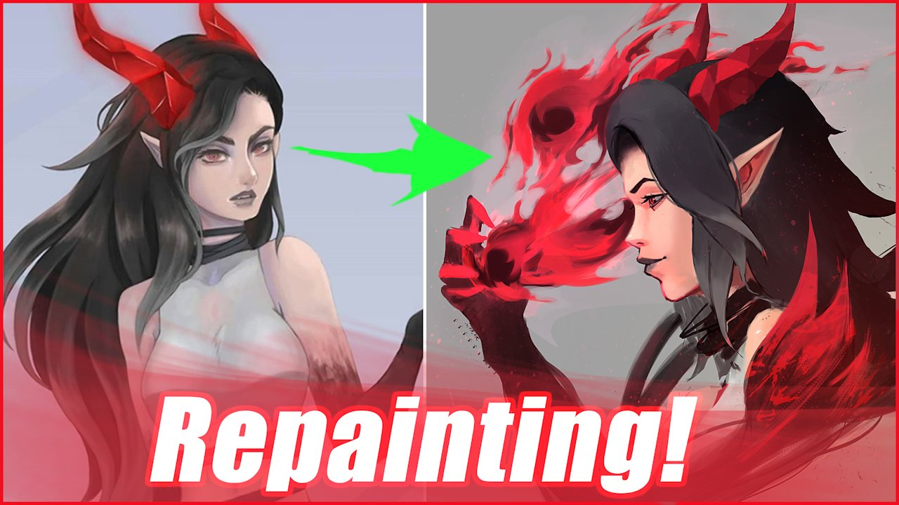 Video poster Repainting a fan's drawing!