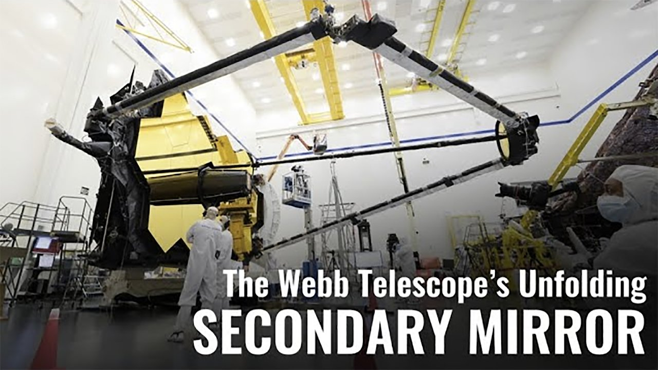 Video poster The Webb Telescope's Unfolding Secondary Mirror