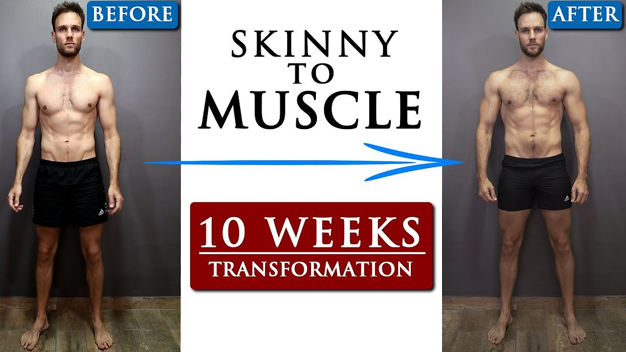 Video poster BODY TRANSFORMATION from SKINNY to MUSCLE motivation
