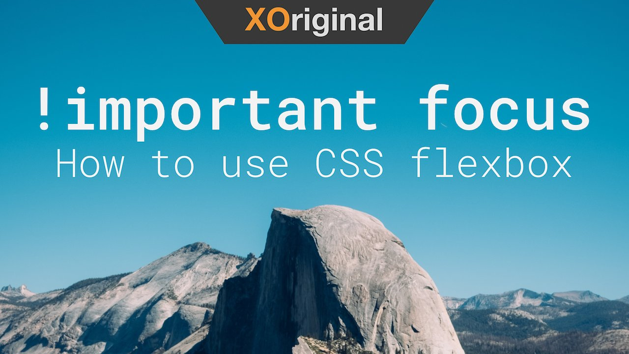 Video poster !important focus // How to use CSS flexbox