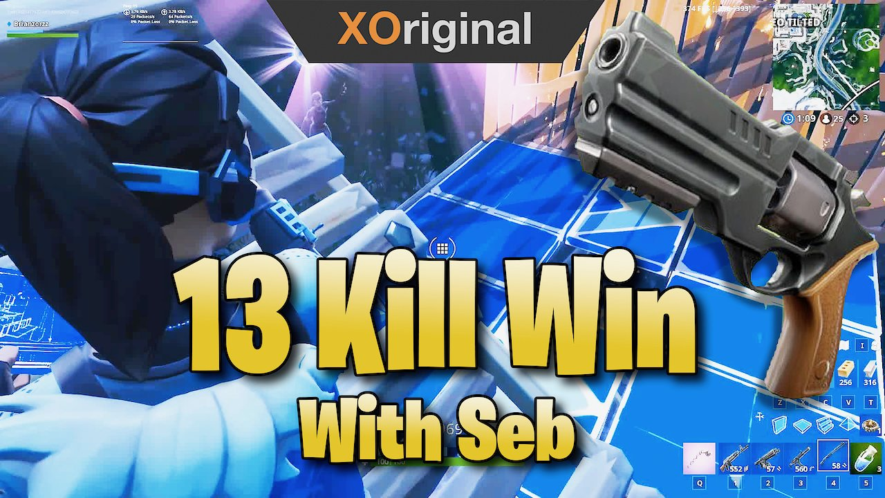 Video poster 13 Kill Win With The *NEW* Revolver With Seb (Fortnite: Battle Royale)
