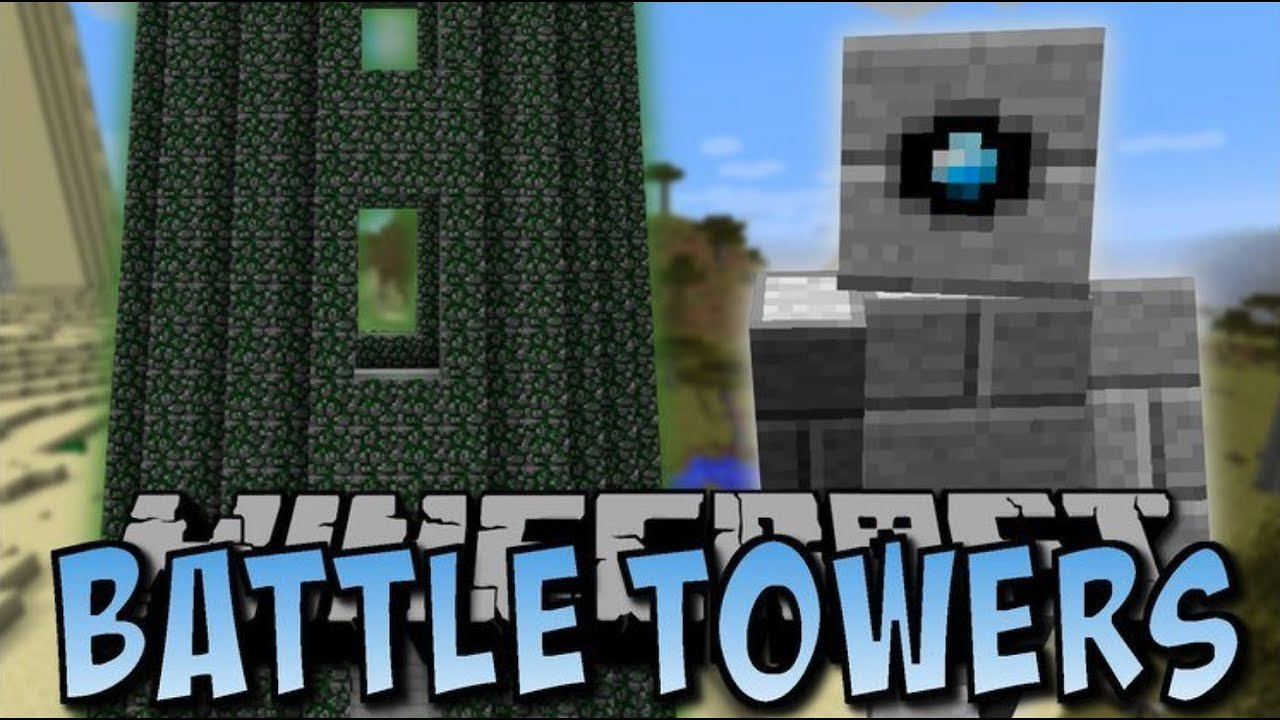 Video poster Battle Towers Mod 1.12.2  Minecraft
